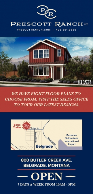 We Have Eight Floor Plans to Choose From