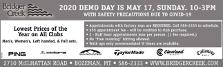 2020 Demo Day is May 17