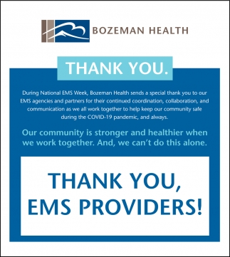 Thank You, EMS Providers!