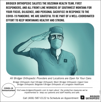 Salutes the Bozeman Health Team