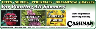 For Planting All Summer!
