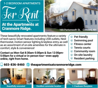 For Rent The Apartments At Cranmore Ridge Concord Nh