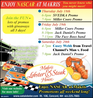 Enjoy Nascar At Makris