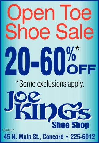 Open Toe Shoe Sale