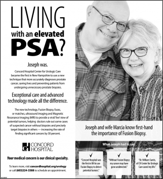 Living With An Elevated PSA?