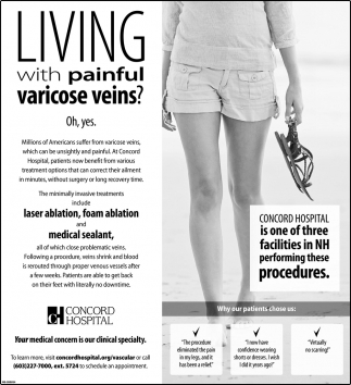 Living With Painful Varicose Veins?
