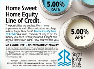 Home Sweet Home Equity Line Credit