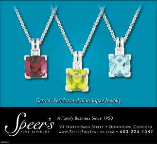 Granet, Peridot And Blue Topaz Jewelry