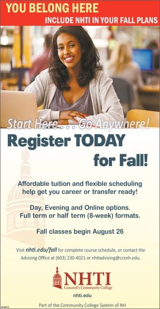 Register Today For Fall!
