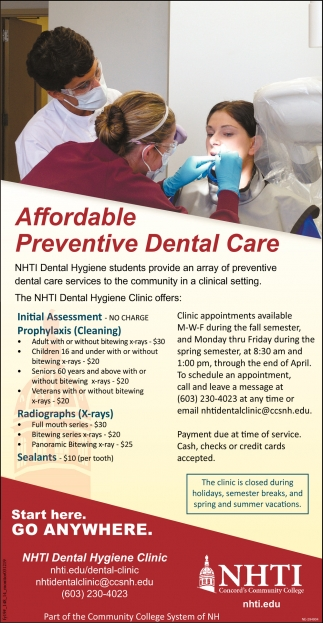 Affordable Preventive Dental Care