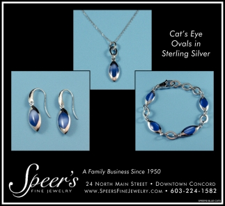 Cat's Eye Ovals On Sterling SIlver