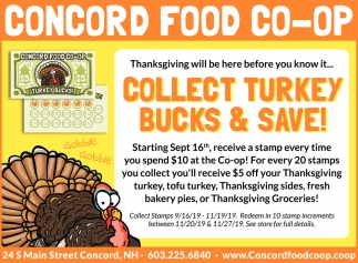 Collect Turkey Bucks & Save!