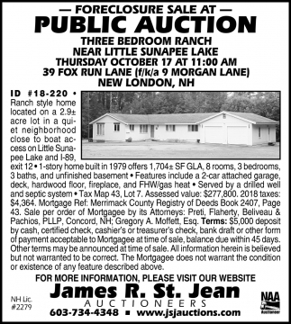 State Of NH Surplus Property Auction