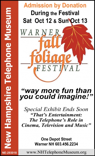 Warner Fall Foliage Festival