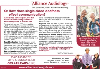 How Doeas Single-sided Deafness Affect Communication?