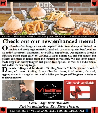 Check Out Our Enhanced Menu!