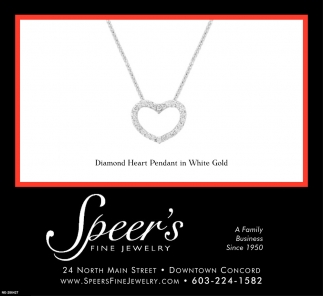 Diamond Heart Pendant In White Gold