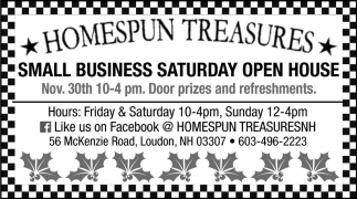 Small Business Saturday Open House