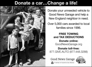 Donate A Car... Change A Life!