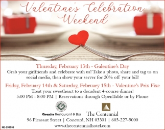 Valentine's Celebration Weekend