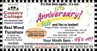 17th Anniversary Sale!