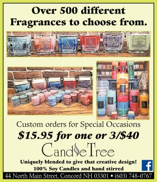 Over 500 Different Fragances To Choose From.