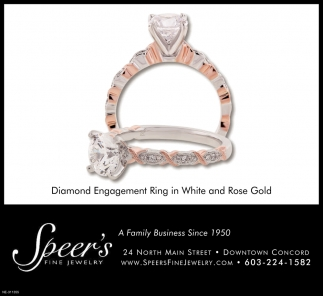 Diamond Engagement Ring In White And Rose Gold
