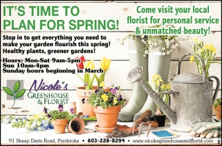 It's Time To Plan For Spring!