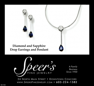 Diamond And Sapphire Drop Earrings And Pendant