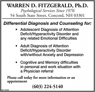 Differential Diagnosis And Counseling
