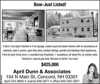 Bow-Just Listed!