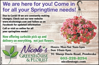 We Are Here For You! Come In For All Your Springtime Needs!