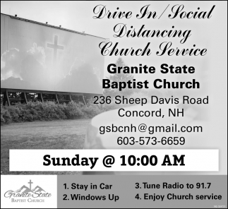 Drive In/Social Distancing Church Service