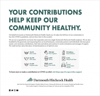 Your Contributions Help Week Our Community Healthy.
