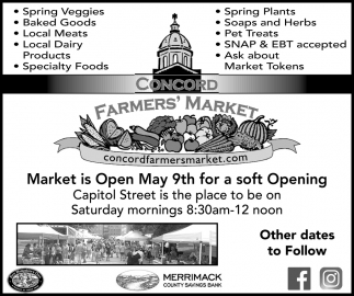 Market Is Open May 9th For A Soft Opening
