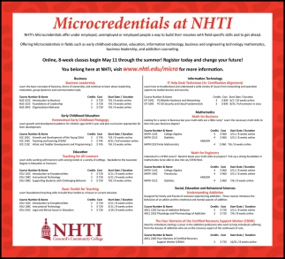Microcredentials At NHTI