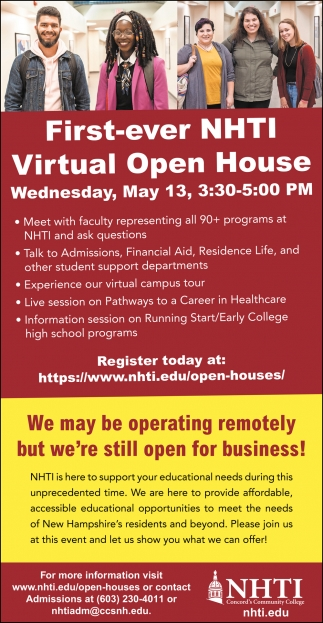 First Ever NHTI Virtual Open House