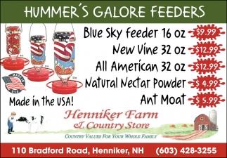 Hummer's Galore Feeders
