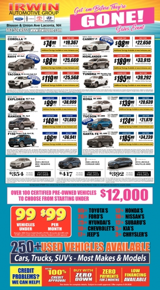Get'em Before They're Hone! Sales Event