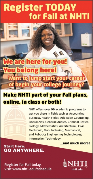 Register Today For Fall At NHTI