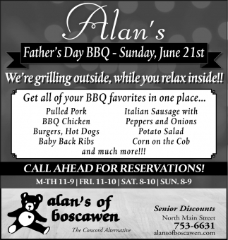 Father's Day BBQ - Sunday, June 21st