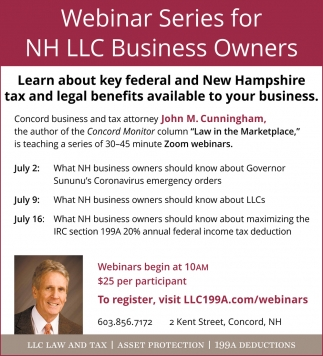 Webinar Series For NH LLC Business Owners