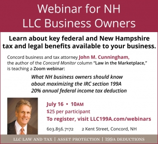 Webinar For NH LLC Business Owners
