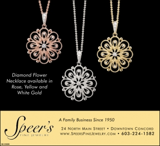 Diamond Flower Necklace Available In Rose, Yellow And White Gold