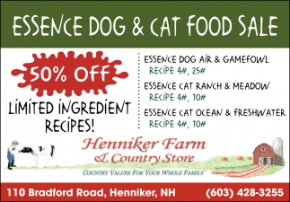 Essence Dog & Cat Food Sale