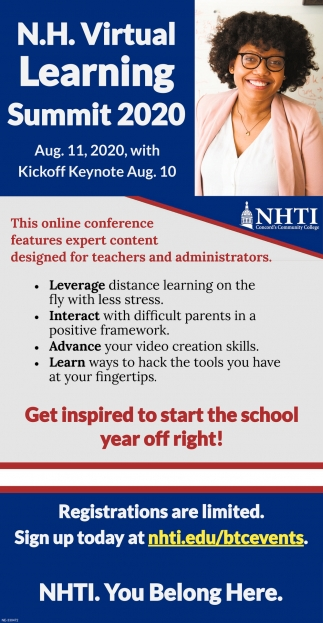 N.H. Virtual Learning Summit 2020