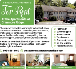 1-2 Bedroom Apartments For Rent