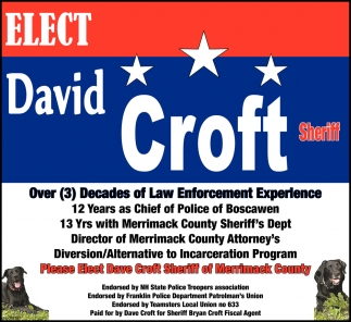 Elect David Croft Sheriff