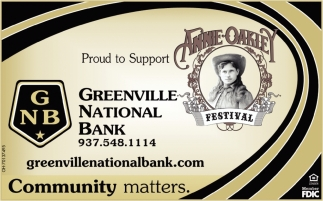 Proud to Support Annie Oakley Festival