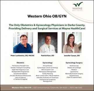 The Only Obstetrics, Gynecology Physicians in Darke County